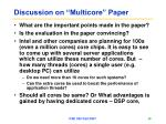 discussion on multicore paper