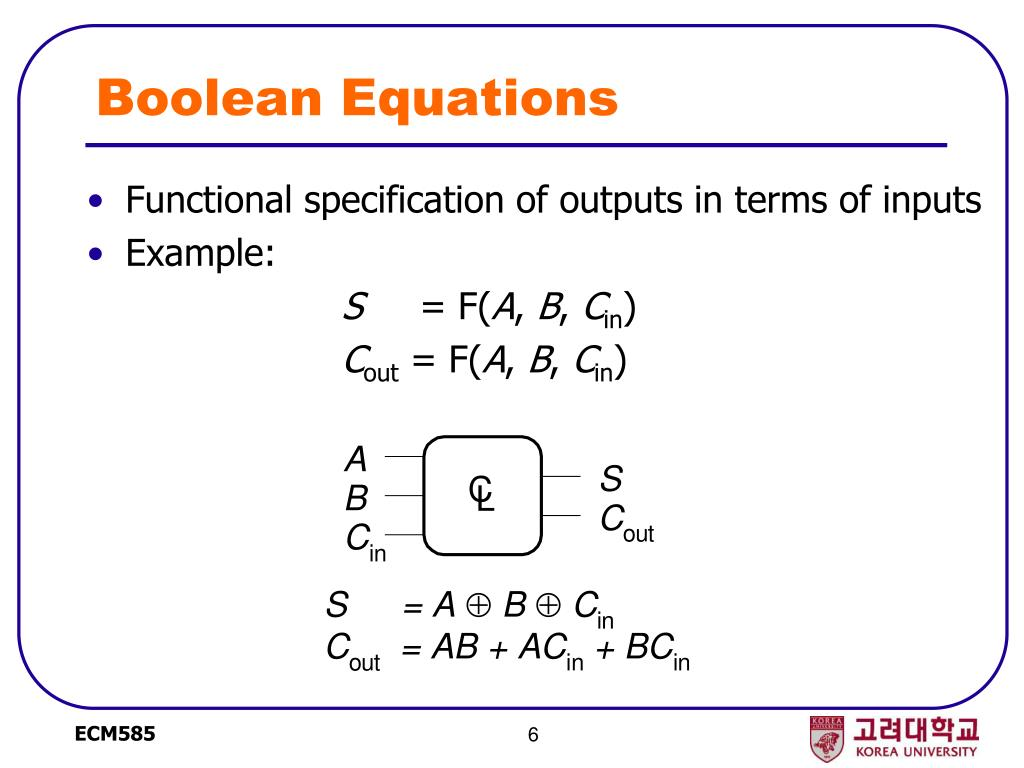 Boolean Equations