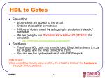 hdl to gates