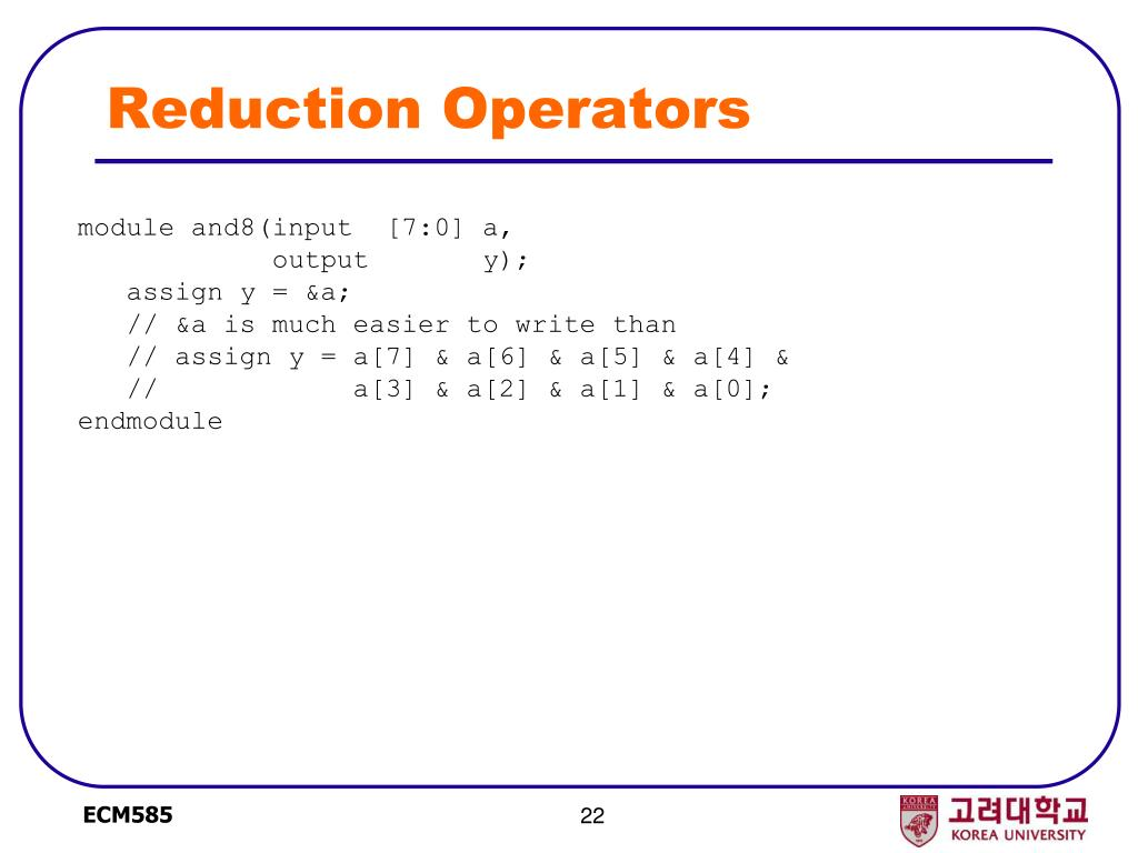 Reduction Operators