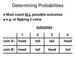 determining probabilities
