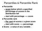 percentiles percentile rank