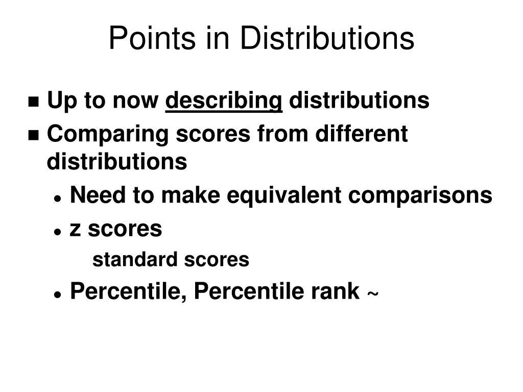 points in distributions l.
