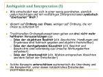 ambiguit t und interpretation 1