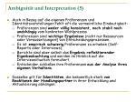 ambiguit t und interpretation 5