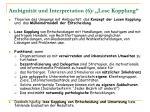ambiguit t und interpretation 6 lose kopplung