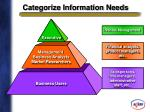 categorize information needs
