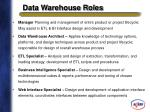 data warehouse roles