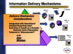 information delivery mechanisms