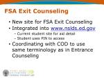 fsa exit counseling