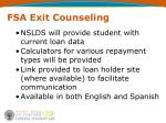 fsa exit counseling30