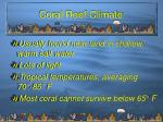 coral reef climate