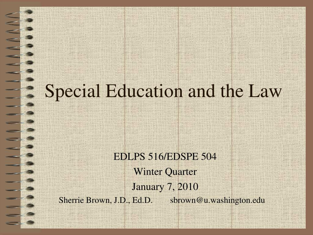 special education and the law l.