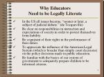 why educators need to be legally literate