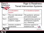 rigor readiness tiered intervention systems
