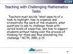 teaching with challenging mathematics tasks39