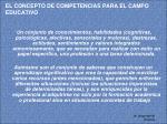 el concepto de competencias para el campo educativo18