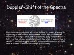 doppler shift of the spectra
