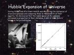 hubble expansion of universe