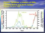 pacific sardines a history of 20th century boom and bust cycles kawasaki and omori 1988