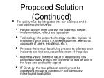 proposed solution continued