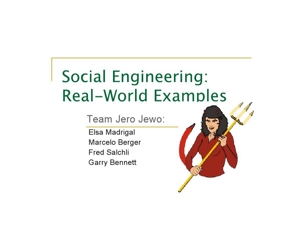social engineering l.