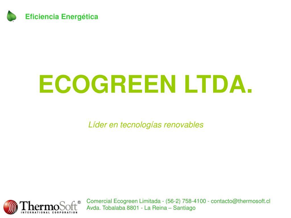 ecogreen ltda l der en tecnolog as renovables l.