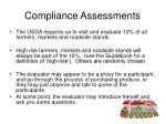 compliance assessments