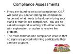 compliance assessments14