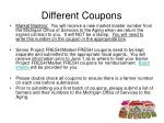 different coupons12