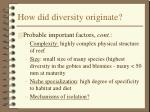 how did diversity originate36