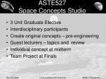 aste527 space concepts studio