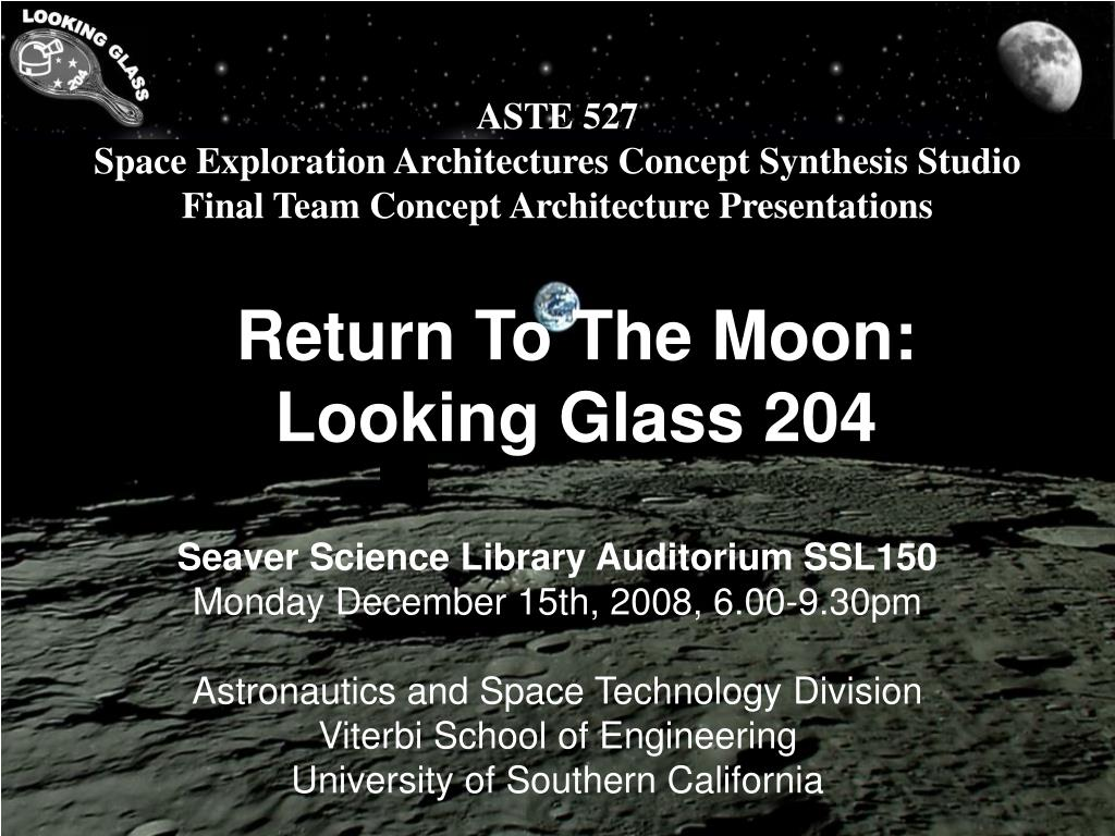 return to the moon looking glass 204 l.