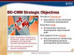 bd cmm strategic objectives