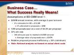 business case what success really means