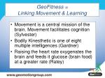 geofitness linking movement learning