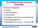 the fundamentals of school success