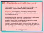 nic klasifikacija sestrinskih intervencija