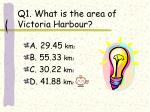q1 what is the area of victoria harbour