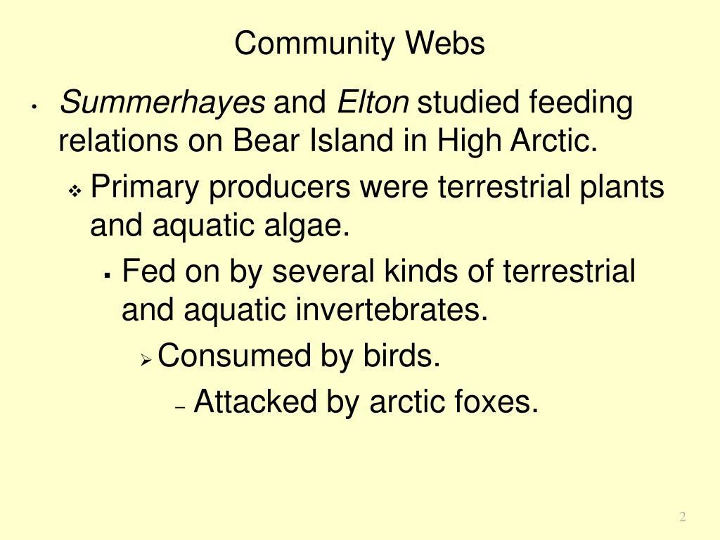 Community Webs
