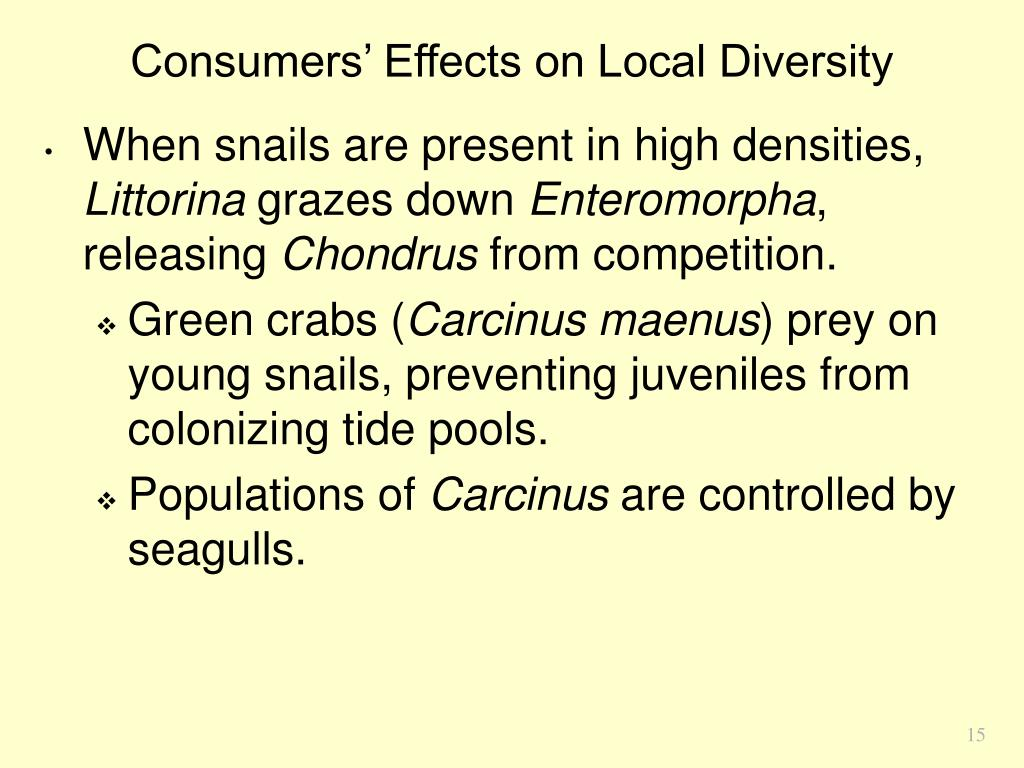 Consumers' Effects on Local Diversity