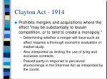 clayton act 1914