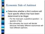 economic side of antitrust