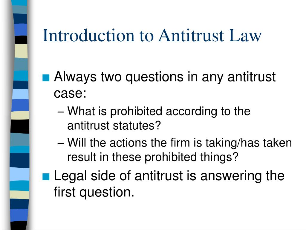 introduction to antitrust law l.