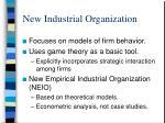 new industrial organization
