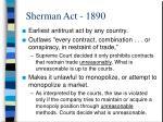 sherman act 1890