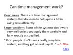 can time management work