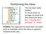 partitioning the inbox