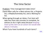 the time factor