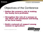 objectives of the conference